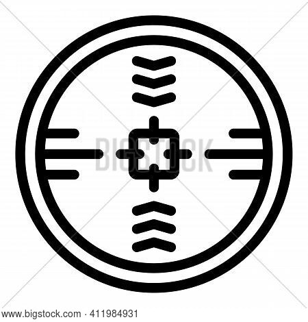 Telescopic Sight Icon. Outline Telescopic Sight Vector Icon For Web Design Isolated On White Backgro
