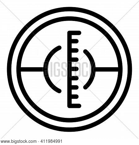 Telescope Reticle Icon. Outline Telescope Reticle Vector Icon For Web Design Isolated On White Backg