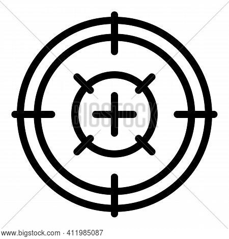 Scope Sight Icon. Outline Scope Sight Vector Icon For Web Design Isolated On White Background