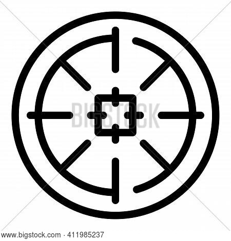 Sniper Target Icon. Outline Sniper Target Vector Icon For Web Design Isolated On White Background