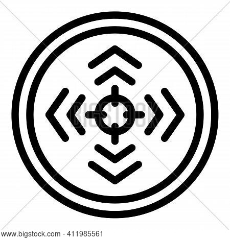 Goal Reticle Icon. Outline Goal Reticle Vector Icon For Web Design Isolated On White Background