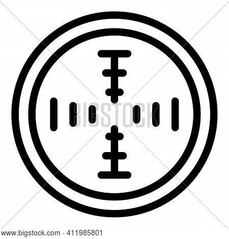 Telescopic Focus Icon. Outline Telescopic Focus Vector Icon For Web Design Isolated On White Backgro
