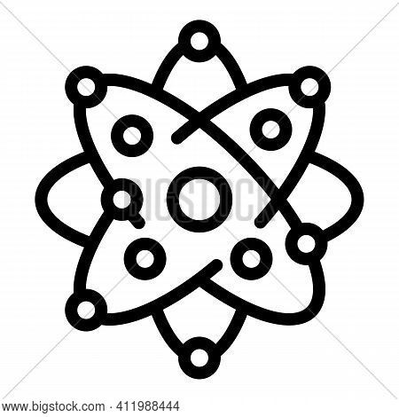 Research Atom Icon. Outline Research Atom Vector Icon For Web Design Isolated On White Background