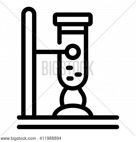 Scientist Boiling Test Tube Icon. Outline Scientist Boiling Test Tube Vector Icon For Web Design Iso