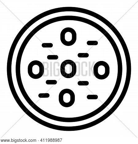Scientist Biology Test Icon. Outline Scientist Biology Test Vector Icon For Web Design Isolated On W