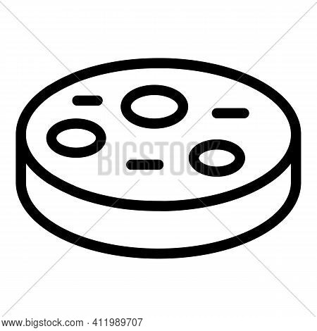 Research Petri Dish Icon. Outline Research Petri Dish Vector Icon For Web Design Isolated On White B