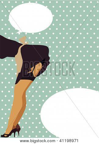 Sexy woman retro style illustration