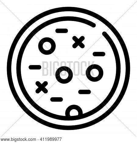 Medicine Petri Dish Icon. Outline Medicine Petri Dish Vector Icon For Web Design Isolated On White B