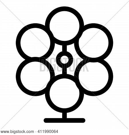Perpetual Motion Stand Icon. Outline Perpetual Motion Stand Vector Icon For Web Design Isolated On W