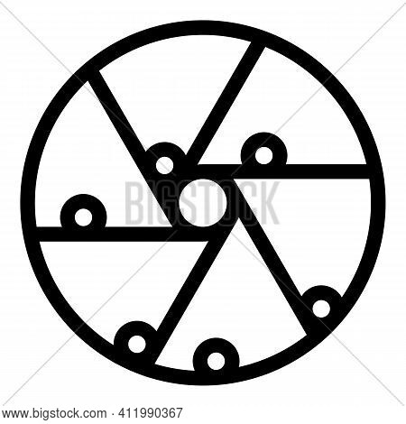 Perpetual Motion Balls Icon. Outline Perpetual Motion Balls Vector Icon For Web Design Isolated On W