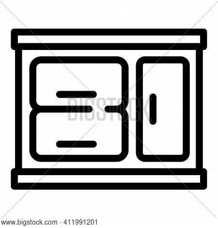 Kitchen Cabinet Icon. Outline Kitchen Cabinet Vector Icon For Web Design Isolated On White Backgroun