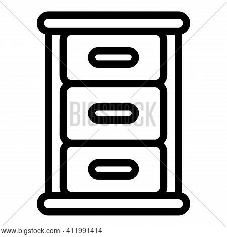 Store Kitchen Cabinet Icon. Outline Store Kitchen Cabinet Vector Icon For Web Design Isolated On Whi