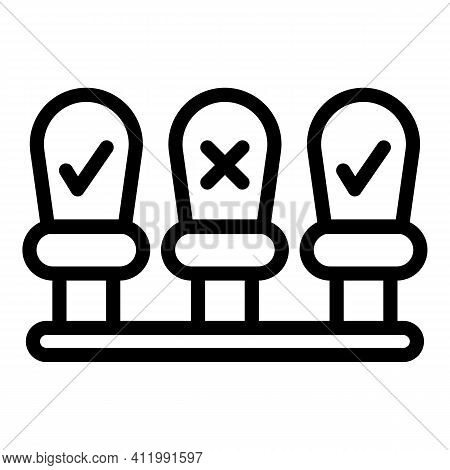 Seats Distance Icon. Outline Seats Distance Vector Icon For Web Design Isolated On White Background