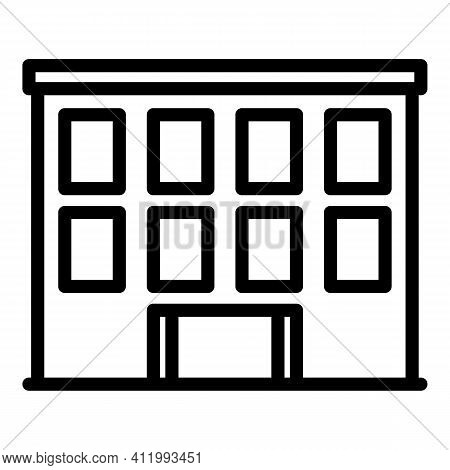 Front Campus Icon. Outline Front Campus Vector Icon For Web Design Isolated On White Background