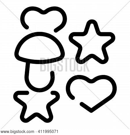 Cookie Molds Oven Icon. Outline Cookie Molds Oven Vector Icon For Web Design Isolated On White Backg