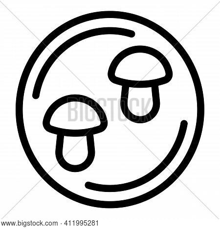 Cookie Molds Circle Icon. Outline Cookie Molds Circle Vector Icon For Web Design Isolated On White B