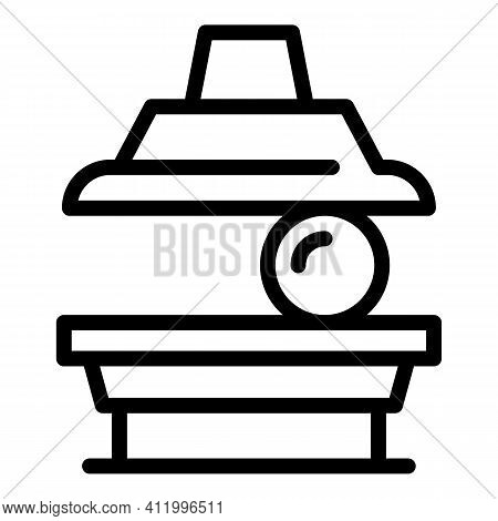 Press Machine Tool Icon. Outline Press Machine Tool Vector Icon For Web Design Isolated On White Bac