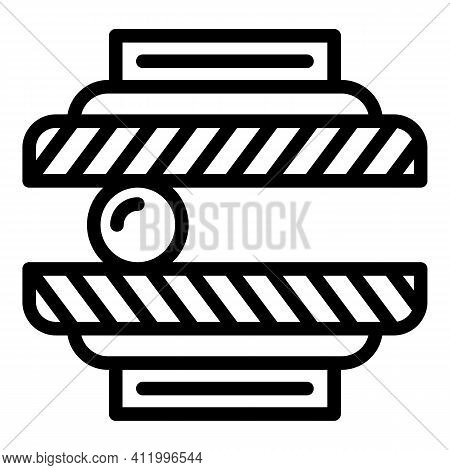 Press Machine Technology Icon. Outline Press Machine Technology Vector Icon For Web Design Isolated