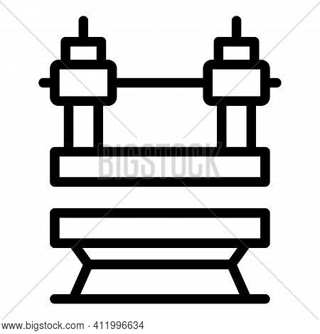 Machine Press Power Icon. Outline Machine Press Power Vector Icon For Web Design Isolated On White B