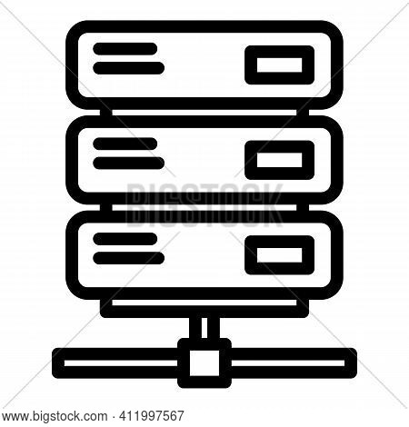 Malware System Icon. Outline Malware System Vector Icon For Web Design Isolated On White Background