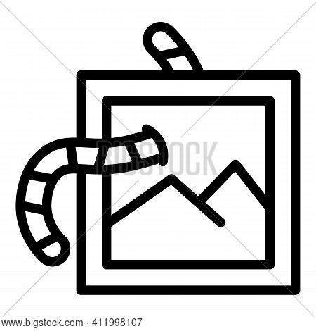 Malware Crime Icon. Outline Malware Crime Vector Icon For Web Design Isolated On White Background