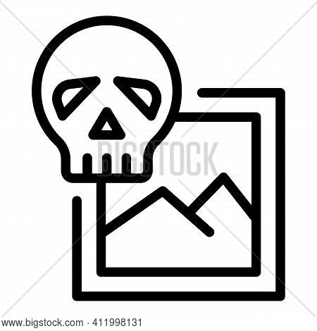 Hacking Malware Icon. Outline Hacking Malware Vector Icon For Web Design Isolated On White Backgroun