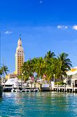 The Freedom tower in downtown Miami Florida poster