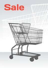 Shopping chart on stylized background