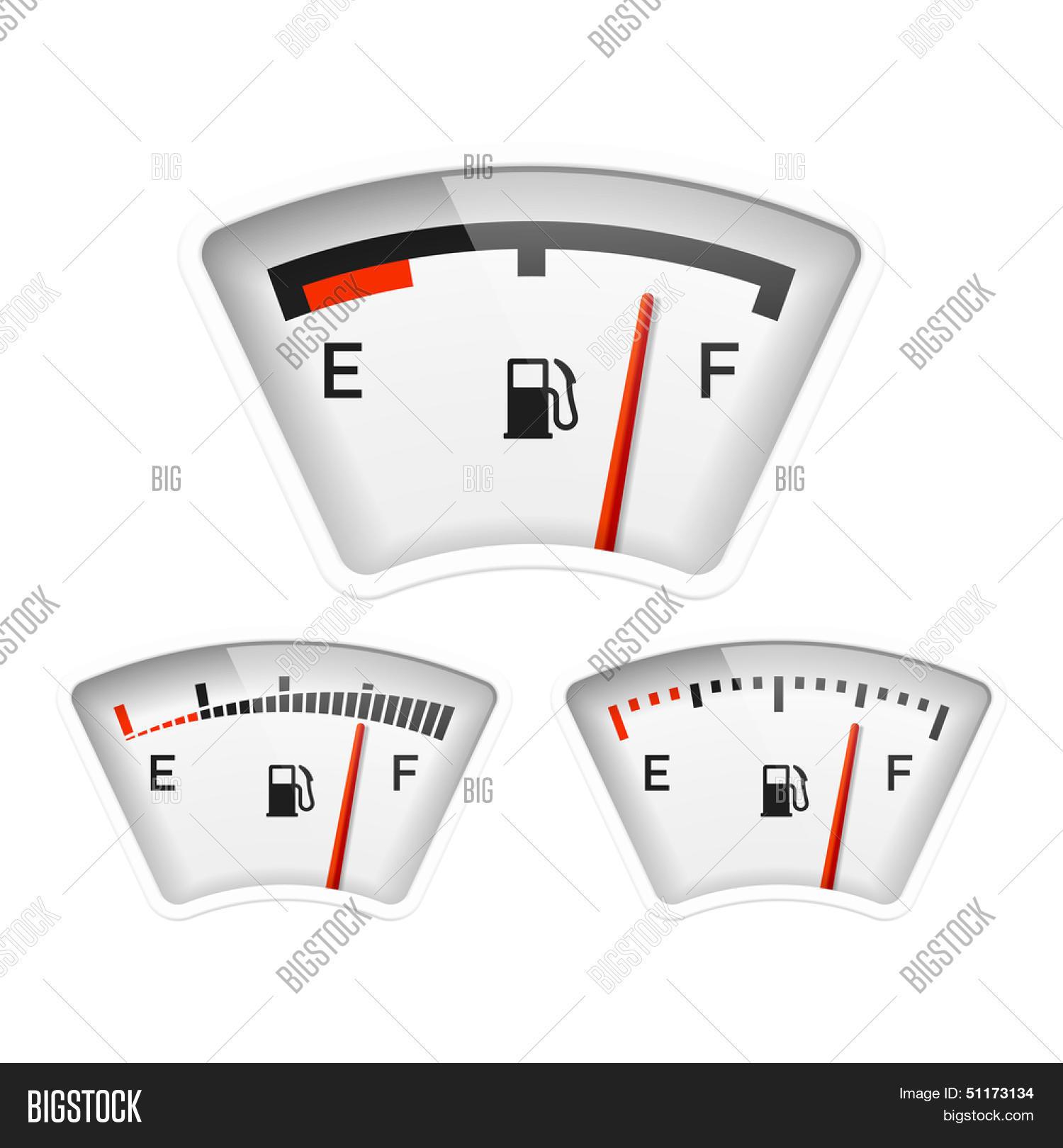 Fuel Gauge  Vector Vector & Photo (Free Trial) | Bigstock