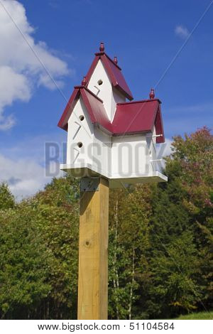 Birdhouse in the Fall