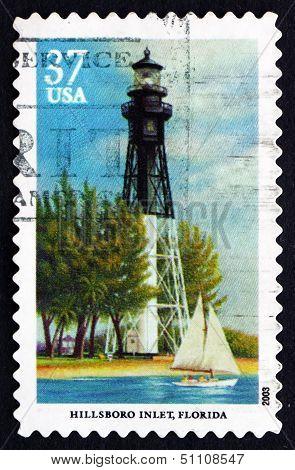 Postage Stamp Usa 2003 Hillsboro Inlet, Florida, Lighthouse