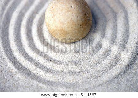 Centered Zen Pebble