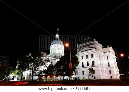 Capitol Building In The Evening