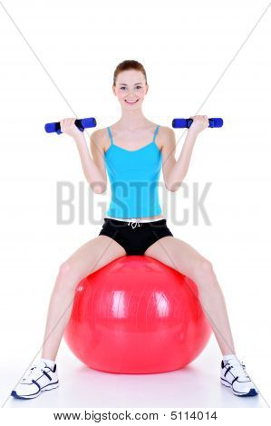 Fitball For Young Woman