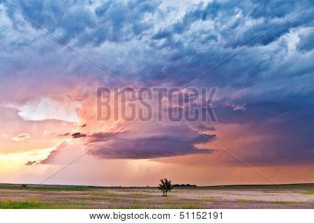 Beautiful heavy weather landscape