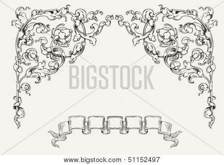 High Ornate Angles And Banner