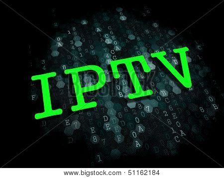 IPTV . Information Technology Concept.