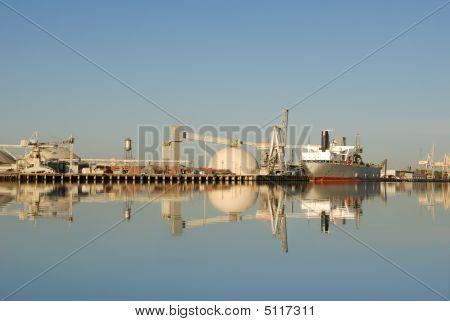 Seaport Reflection, Port Of Stockton