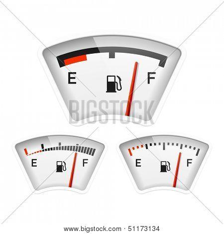 Fuel gauge. Vector.