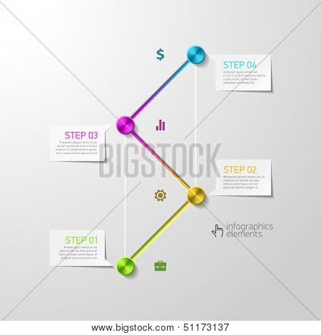 Abstract steps infographics design template. Vector.