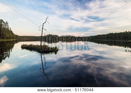 Beautiful Lake In Finland