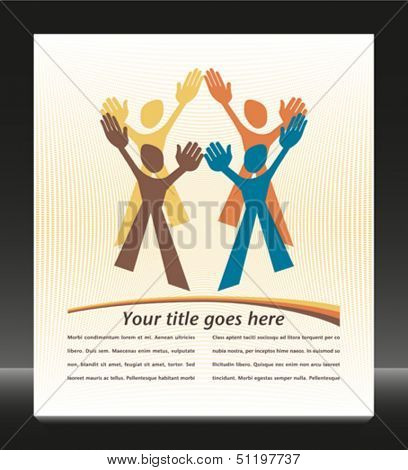 Teamwork design vector.