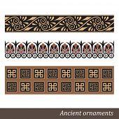 Old greek ornament. Vector illustration. poster