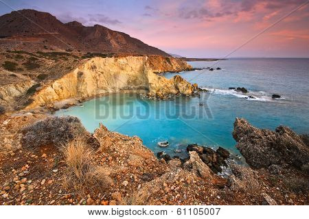 Coast of eastern Crete, Greece.