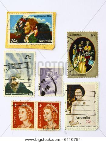 Old art Stamps Of Australia (people)