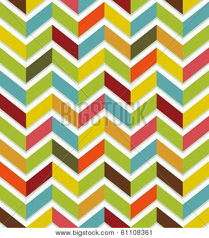 Abstract seamless with colorful chevron on white background. poster