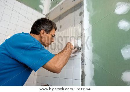 Mosaico del recinto de la tina de baño