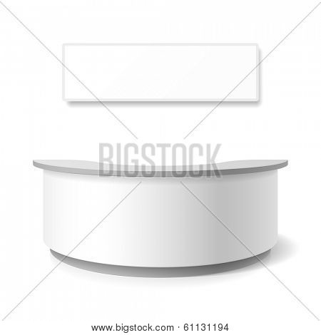 Reception, exhibition counter. Vector.