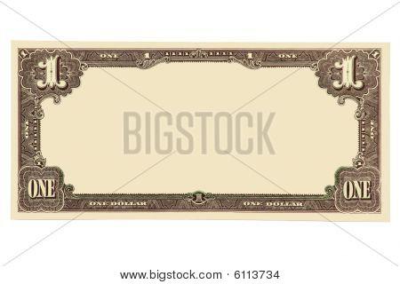 Пустой банкноты.