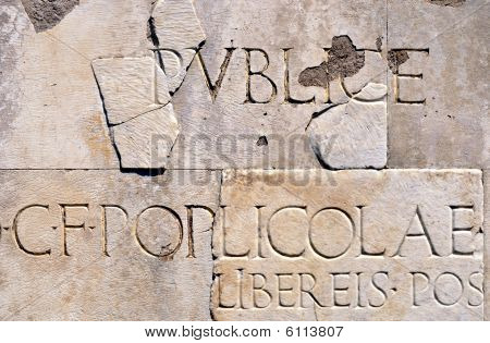 Carved Roman Lettering